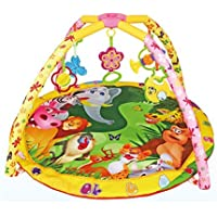 Babytintin 5 in 1 Baby's Mat Kick and Play Multi-Function ABS Gym and Fitness Rack Baby Rattle Infant Soft Music Plastic Piano