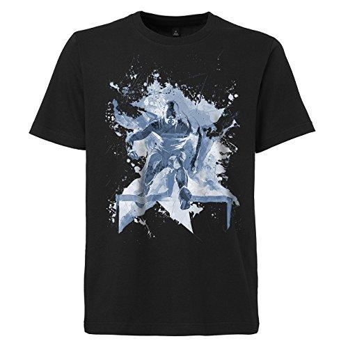 Huerdenlauf_II schwarzes modernes Herren T-Shirt mit stylischen Aufdruck