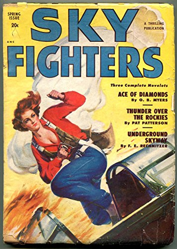 - Sky Fighters Pulp Spring 1950- Parachute cover- Ace of Diamonds VG