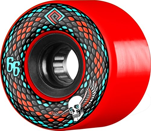 POWELL PERALTA SNAKES 66mm 75a RED/BLK Wheels (Blk Snake)