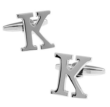 """hosaire Hombres de gemelos Inglés alfabeto """"K"""" Cuff Link delicado cuff-link"""