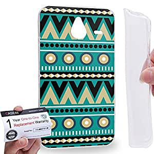 Case88 [Nokia Lumia 640XL] Gel TPU Carcasa/Funda & Tarjeta de garantía - Art Carpet And Tapestry Teal Art2017