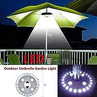 Suszian Patio Umbrella Pole Light Lámpara de la Tienda de campaña, Jardín al Aire Libre 28 LED Patio Umbrella Pole Light Lámpara de la Tienda de campaña Yard Lawn Night Light