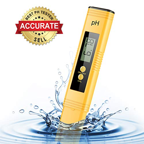 VANTAKOOL Digital PH Meter, 0.01 Resolution Pocket Size Water Quality Tester with ATC 0-14 pH Measurement Range for Household Drinking Water, Aquarium, Swimming Pools, Hydroponics
