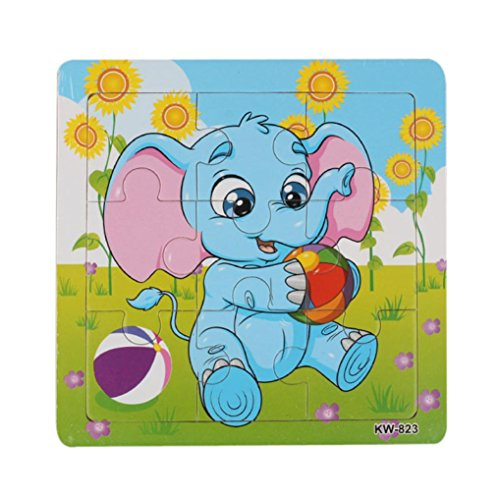 Dreaman Wooden Elephant Jigsaw Toys For Kids Education And Learning Puzzles Toys