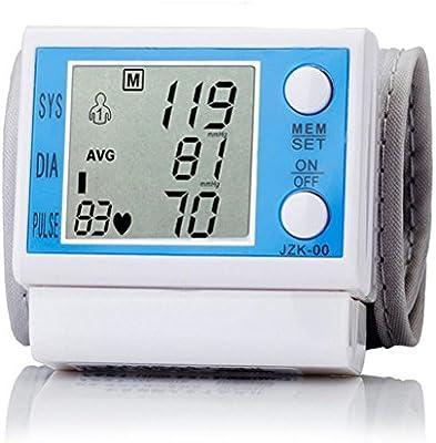 LQUIDE Tensiómetro de muñeca para uso doméstico. Con Gran manguito, fácil de usar con un botón con 99 de medición sphygmo manometern