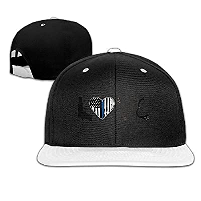 Rock Punk Trucker Hat Thin Blue Line Heart Gun Unisex Baseball Caps Hip-hop Snapback White
