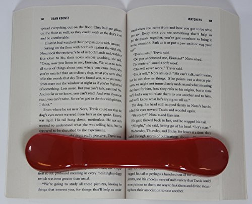 BookBone (TM) - RED - and Other Colors - Made in The USA - The Original Weighted Rubber Bookmark