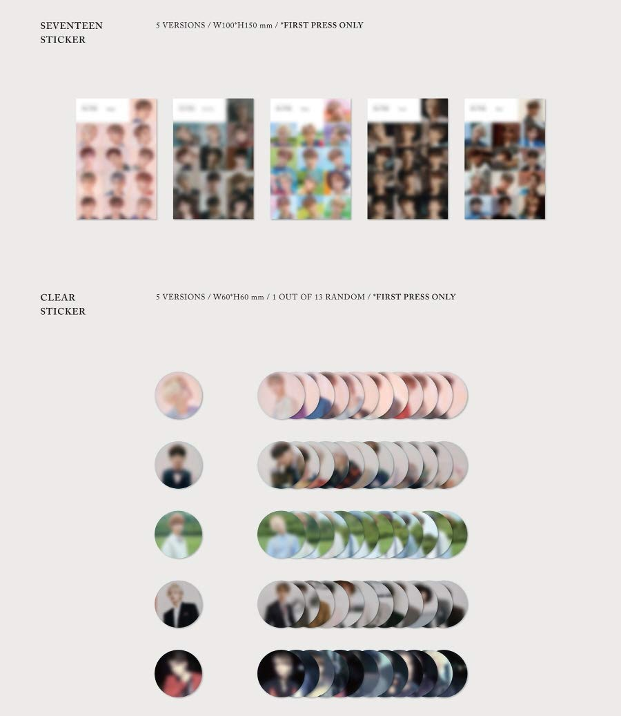 Pledis Entertainment Seventeen an Ode ver.3 Hope Vol.3 CD+2Photobooks+4Photocards+Pre-Order Benefit+Folded Poster+Double Side Extra Photocards Set