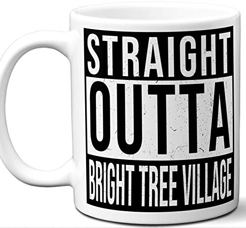 Gift Mug For Return of the Jedi Ewok Village Fan. Straight Outta Bright Tree Village. Funny Him Her Coffee Tea Women Men Birthday Christmas Fathers Day Mothers Day.