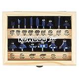 KOWOOD 15 Plus Router Bits Set. Essential Woodwork