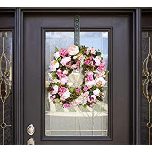 """Red Co. 16"""" Lovely Peony, Artificial Spring & Summer Wreath, Door Backdrop Ornaments, Home Décor Collection 3"""