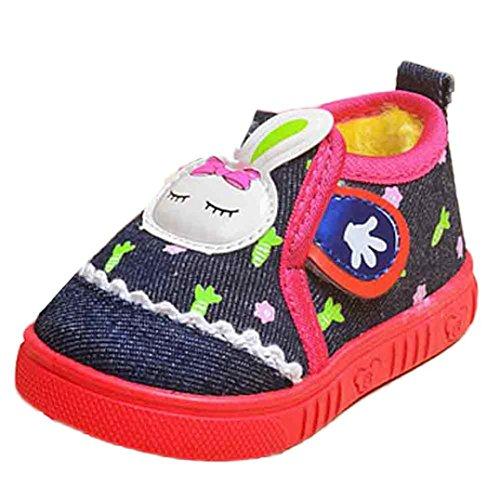 Zapatos Para Bebé,Xinantime Primeros Conejo Niños Niñas Invierno Pasos (19, Azul) Azul
