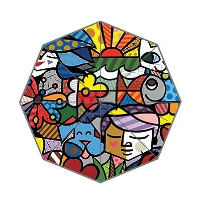 coloré Fleur Pop Art Poisson et personnes Motif visage Parapluie