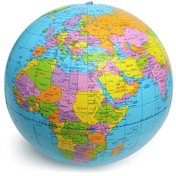 Polo Sud - Globo geográfico, inflable, mar azul, diámetro 40 ...