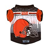 Littlearth NFL Cleveland Browns Pet Performace T-Shirt, Small