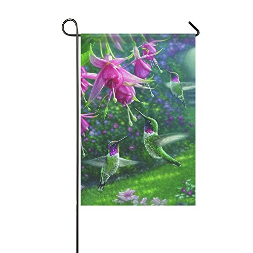 Small Mim Hummingbird Heaven Garden Flag Holiday Decoration Double Sided Flag 12.5