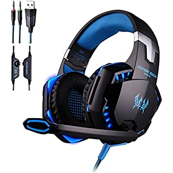 KOTION EACH G2000 Over-ear 3.5mm Stretchable Band Gaming Headphone with Mic for PC