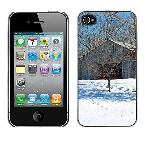 Premio Sottile Slim Cassa Custodia Case Cover Shell // F00025449 Stable // Apple iPhone 4 4S 4G