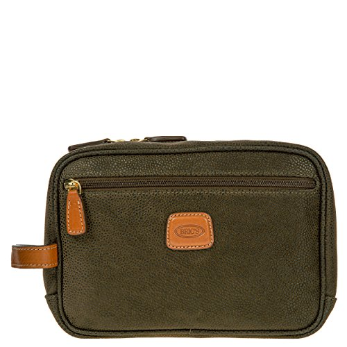 Bric's Life Traditional Toiletry Dopp Travel Case Shave Kit, Olive by Bric's