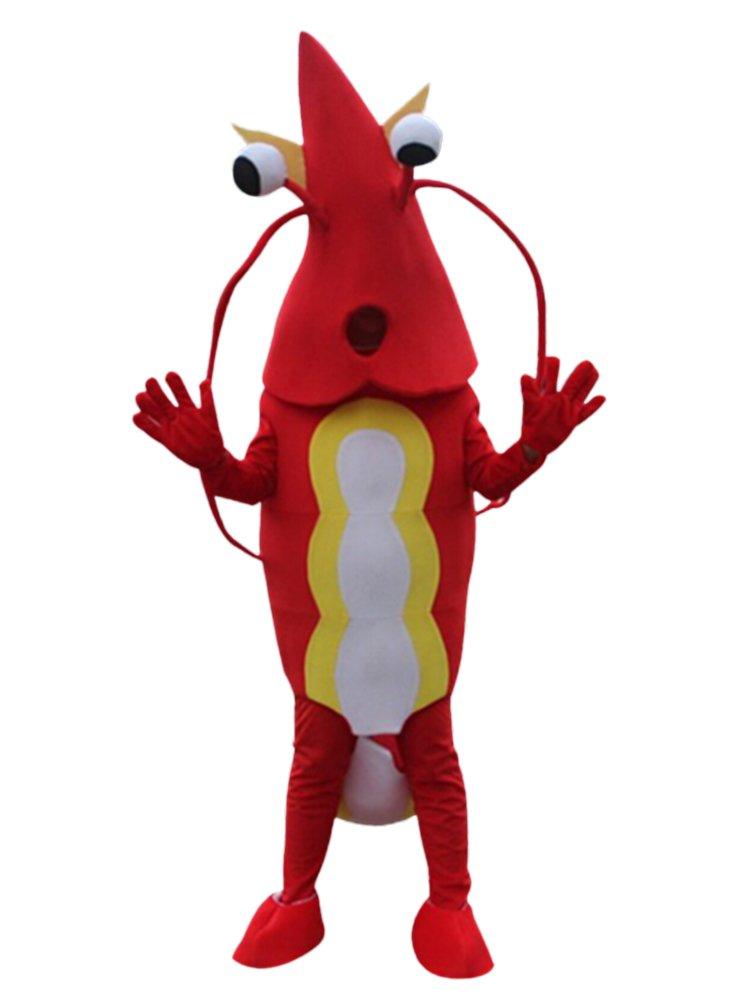 Rojo camarón camarón/Mascota Disfraz Adulto tamaño Cartoon Halloween Fancy Dress Traje: Amazon.es: Deportes y aire libre