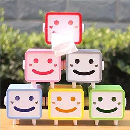 Newfangled Practical Gift Original Lovely Tissue Box Smiling Khaki Tissue Box