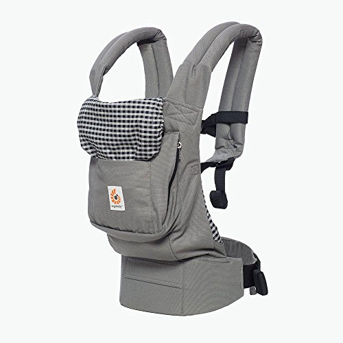 (Ergobaby Carrier, Original 3-Position Baby Carrier with Lumbar Support and Storage Pocket, Steel)