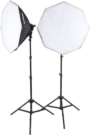 Fovitec StudioPRO Single 1000 Watt 32 Octagon Softbox Continuous Output Lighting for Portrait Photography Photo /& Video Studio Shoots