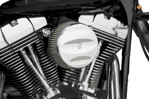 Harley Support Plate Cam (Arlen Ness Stage I Billet Sucker Air Filter Kit with Scalloped Billet Cover for)