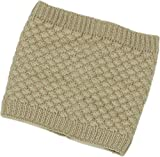 ZUZIFY Sweater Knit Furry Fleece Lined Neck Gaiter. ZUZ0009 OS Beige