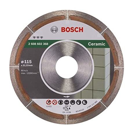 Bosch 2608602368 Diamond disc Ceramic HPP 115 X Clean, Silver/Grey, 115 mm