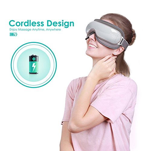 Naipo Wireless Eye Massager Portable Eye Mask with Compression, Vibration, Heating and 3 Modes for Dry Eye Relax Vision Care Eyestrain Stress Relief