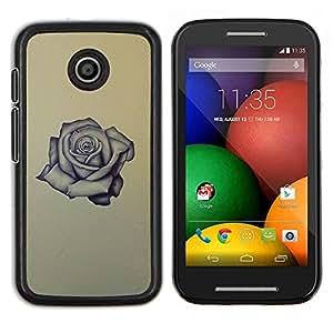 TECHCASE---Cubierta de la caja de protección para la piel dura ** Motorola Moto E ( 1st Generation ) ** --Rose Tattoo roca rodillo de tinta aman amarilla