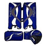 BenKen Sports Hockey Gear Goalie Pad Pack Ice Hockey Equipment Teenager &Adult Blue Black (Blue 18'')