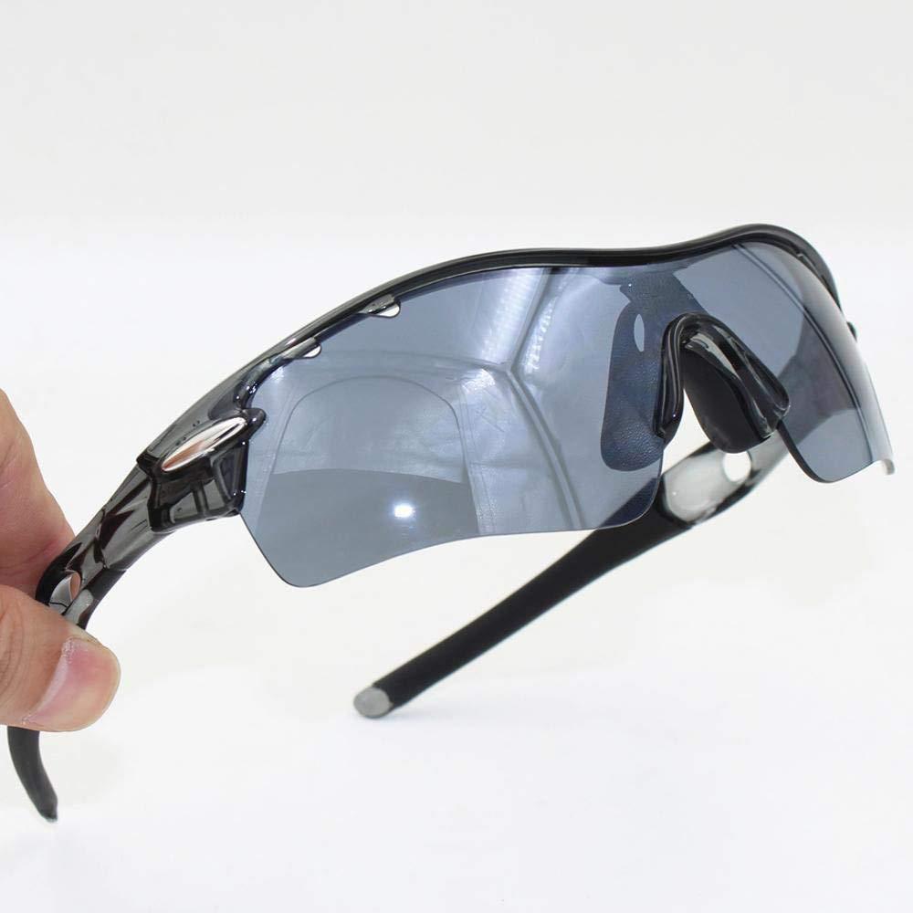Y-YT Gafas de Deporte Gafas de Montar Bicicleta de Viento con al Aire Libre Deportes montaña Bicicleta Gafas de Sol Unisex (Set 3 Lentes)