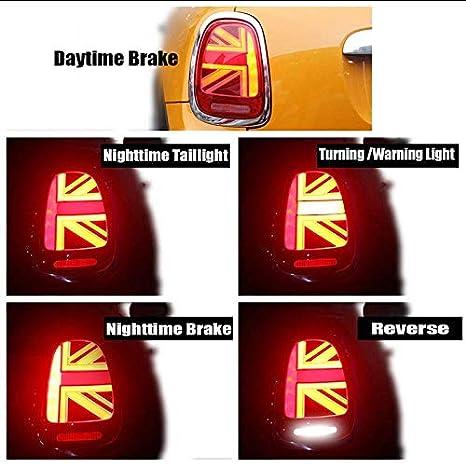 Tail Light for MINI Cooper MK3 F55 F56 F57 3D Black Union Jack Rear Lights
