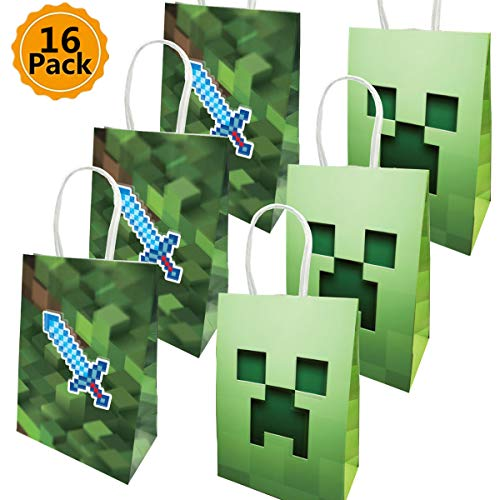 Party Favors for Miner Gamer Birthday Party For Kids Adults Birthday Party Game Party Supplies Favors (16-Pack)