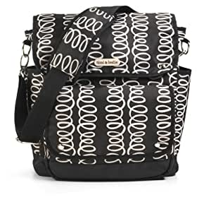 timi & leslie 2 in 1 Backpack Diaper Bag, Mackenzie Black (Discontinued by Manufacturer)