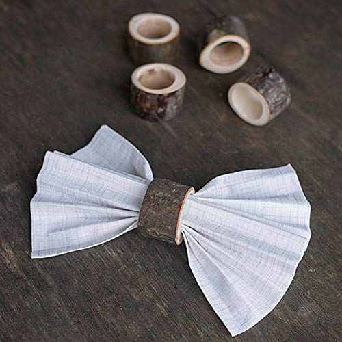 (856store Novelty Rustic Style Wooden Napkin Holder Ring Wedding Party Event Table Decoration)