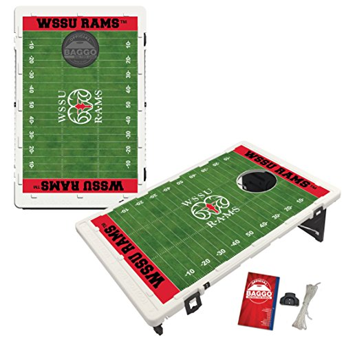 Winston Salem State University Rams Baggo Bean Bag Toss Cornhole Game Homefield Design by Victory Tailgate