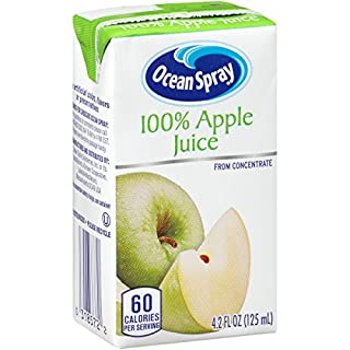 Ocean Spray 100% Apple Juice Boxes, 4.2 Ounce (Pack of 40)