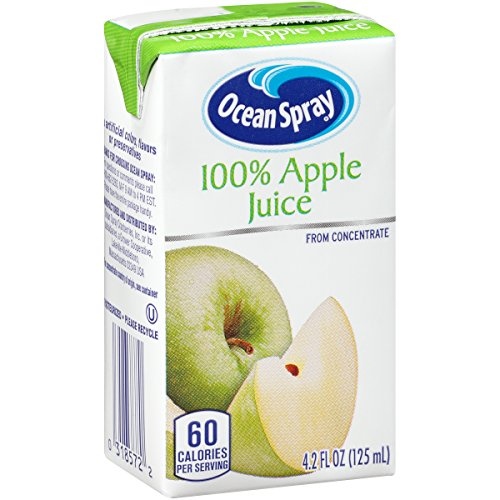Ocean Spray 100% Apple Juice Drink, 4.2 Ounce Juice Boxes (Pack of 40) (Apple Beverage)