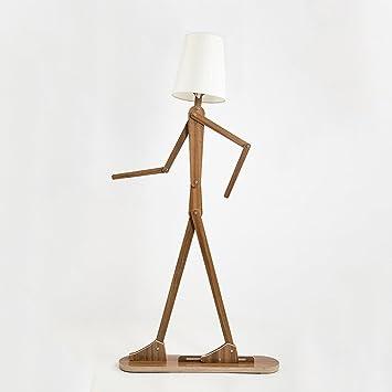 Floor lamp vbimlxft- Lámpara de pie de Madera Creativa con ...