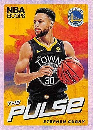 093b25f85eff5 Amazon.com: 2018-19 NBA Hoops The Pulse Holo #1 Stephen Curry Golden ...
