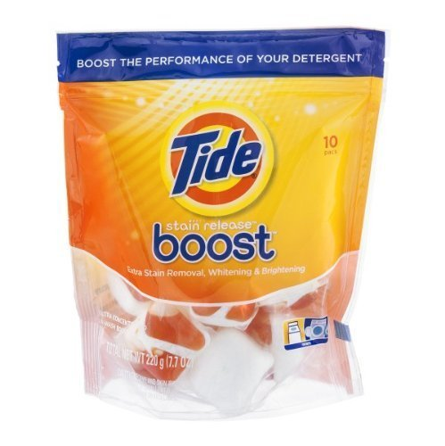 (Tide Stain Release Boost Extra Stain Removal, Whitening and Brightening - 10 Ea, Pack of 2)