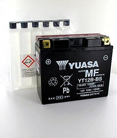 Yuasa Blei Akku Yuasa Yt12b Bs 12v 10 5ah Motorrad Batterie Yt12b Bs Or Gewerbe Industrie Wissenschaft
