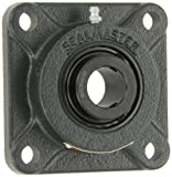 Sealmaster MSF-24C Medium Duty Flange Unit, 4 Bolt, Regreasable, Contact Seals, Setscrew Locking Collar, Cast Iron Housing, 1-1/2'' Bore, 5-3/8'' Overall Length, 4-1/8'' Bolt Hole Spacing Width, 9/16'' Flange Height, ±2 Degrees Misalignment Angle