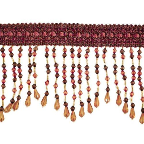 Expo International Kirsten Scalloped Bead Fringe Trim, 10-Yard, Brown Multi by Expo International Inc.