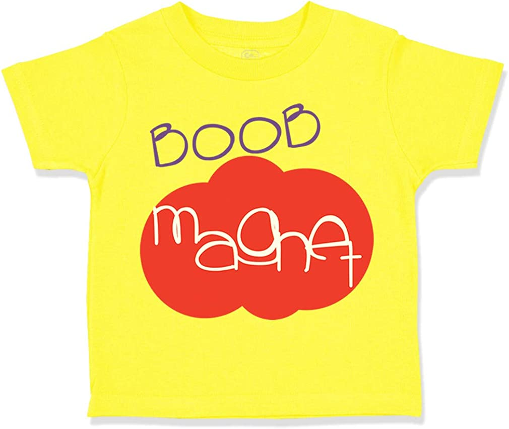 Custom Toddler T-Shirt Boob Magnet Funny Humor Cotton Boy /& Girl Clothes