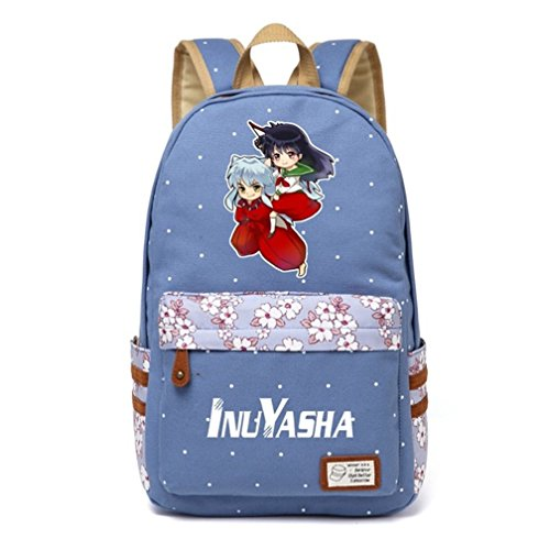 (YOYOSHome Anime Inuyasha Cosplay Daypack Bookbag Backpack School Bag (Light Blue)